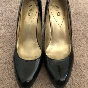 Guess patten leather heels
